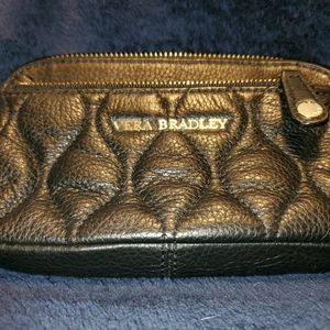 Vera Bradley quilted leather wristlet